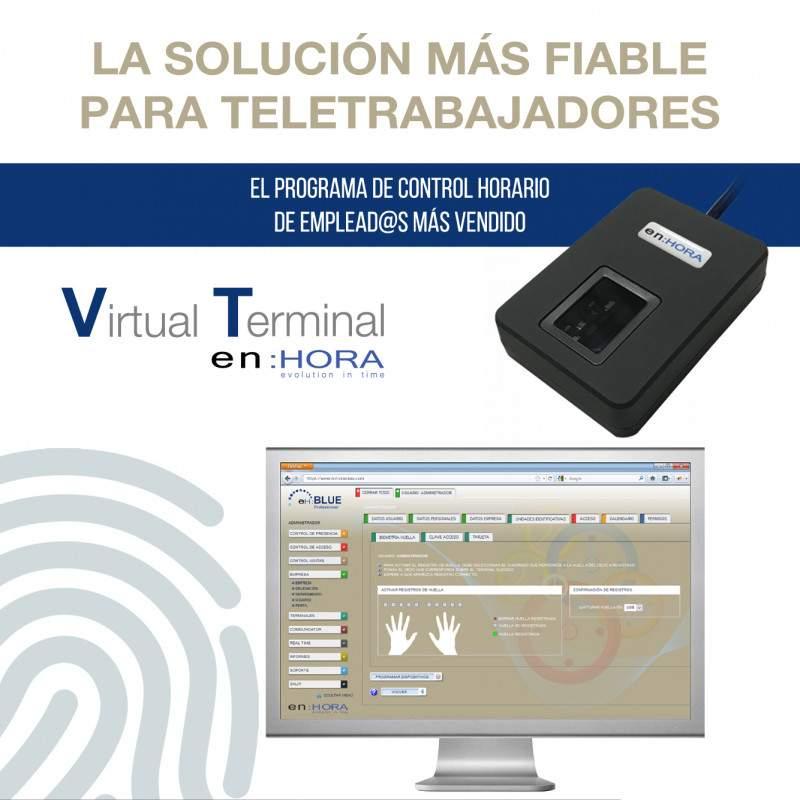 Terminal virtual en:HORA para fichar en remoto