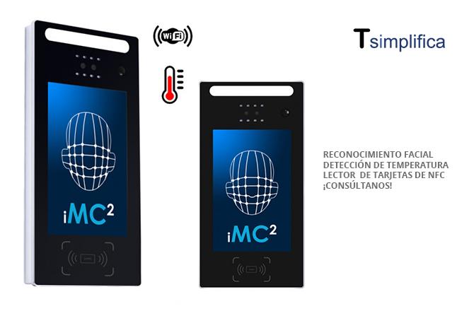 Terminal de reconocimiento facial y detección de temperatura con NFC